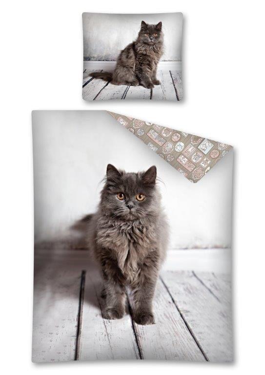 Pościel bawełniana CAT Kotek 140 x 200 cm komplet pościeli (2924)