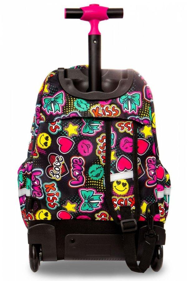 Plecak CoolPack LED JUNIOR na kółkach emotikony EMOTICONS (94689)