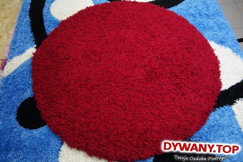 czerwone shaggy