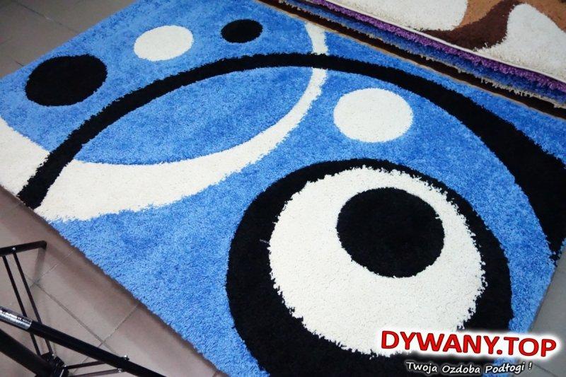 FLORA SHAGGY wycinany 3D niebieski 120x180