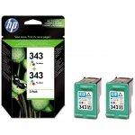 HP oryginalny ink CB332EE, HP 343, color, 520 (2x260)s, 2x7ml, HP 2-Pack, C8766EE, PSC-1610, OJ-6210, DeskJet 6840