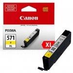Oryginalny, kompatybilny Tusz  Canon  CLI-571Y XL  do  Pixma MG-5750/6850/7750 | 11ml | yellow