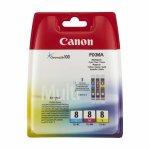 Oryginalny, kompatybilny Zestaw trzech tuszy  Canon  CLI8 do iP-4200/4300/5200, MP-500/600/800 | CMY