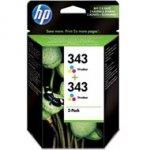 Zestaw dwóch tuszy HP 343 Vivera do Deskjet 460/5940/6540   2 x 330 str.   CMY