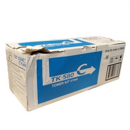 Toner Kyocera TK-580C do FS-C5150DN | 2 800 str. | cyan uszkodzone opakowanie