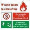 Znak zakaz korzystania z windy w razie pożaru 154 P.F.