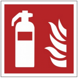 Znak gaśnica F01 (PF)
