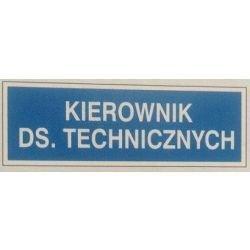 Znak KIEROWNIK DS. TECHNICZNYCH 801-66 F.Z.