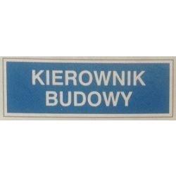 Znak KIEROWNIK BUDOWY 801-64 F.Z.