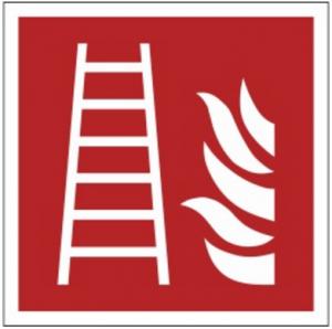 Znak drabina pożarowa F03 (PF) 150x150