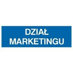 Znak DZIAŁ MARKETINGU  801-26 F.Z.