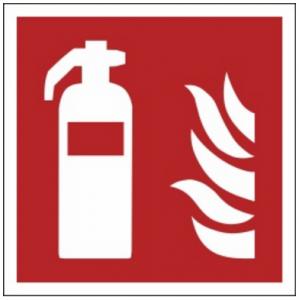 Znak gaśnica F01 (PF) 150x150