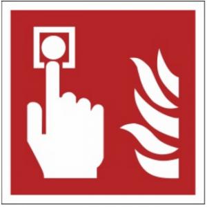 Znak alarm pożarowy F05 (PZ) 150x150