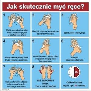 ZNAK Instrukcja mycia rąk