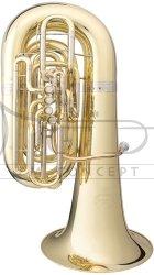 B&S tuba C Perantucci 3198-1-0GB, lakierowana, 4 went., 1 obr., z futerałem gig bag