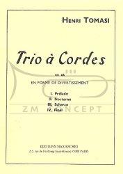 Tomasi, Henri: Trio ŕ cordes en ut: na skrzypce, altówkę i wiolonczelę, głosy