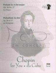 Chopin Fryderyk: Preludium As-dur op. 28 nr 17 na fortepian