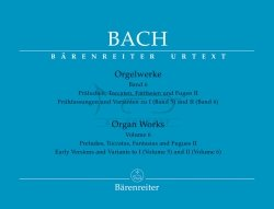 Bach Johann Sebastian - Orgelwerke, Band 6: Praeludien, Toccaten, Fantasien und Fugen II