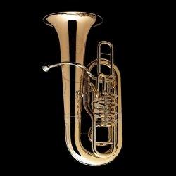 WESSEX tuba F TF435P-GB Berg lakierowana, wentyle obrotowe, z futerałem, czara gold brass