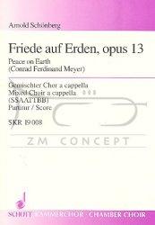 Schoenberg Arnold: Friede auf Erden op.13, na Chór mieszany cappella - SSAATTBB, Partytura