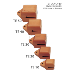 STUDIO49 Concert temple block, model TE30, 13cm, ręcznie produkowane