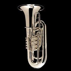 WESSEX tuba F Berg model TF435S posrebrzana, 5 wentyli obrotowych, z futerałem