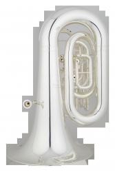 ANDREAS EASTMAN tuba C EBC632S, PROFESSIONAL, 4 wentyle tłokowe, posrebrzana, z futerałem
