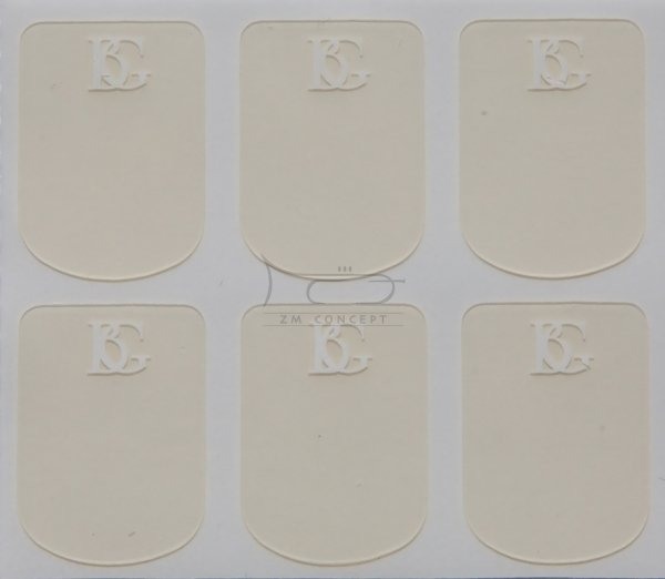 BG A11S naklejki na ustnik 0,4 mm 6 szt. przeźroczyste małe