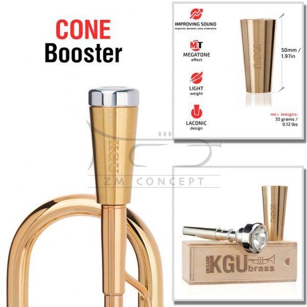KGU Cone Booster do ustnika trąbki Raw Brass