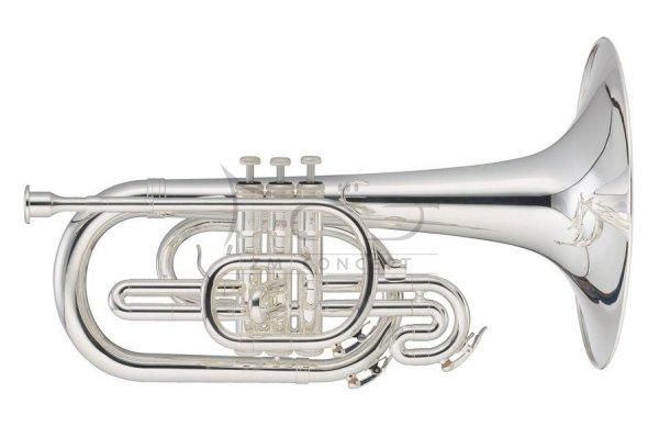 JOHN PACKER Melofon marszowy F frontalny JP2051S, Silverplated, posrebrzany z futerałem