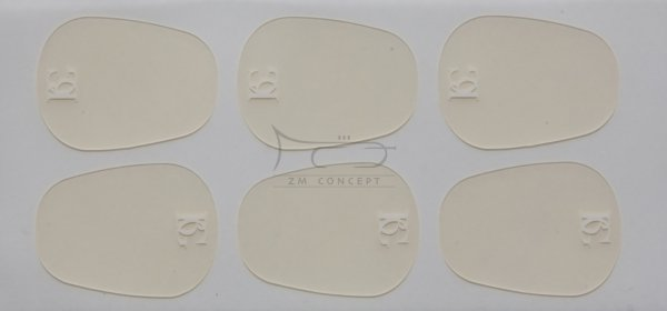 BG A12L naklejki gumki na ustnik 0,9mm 6 szt. przeźroczyste, duże