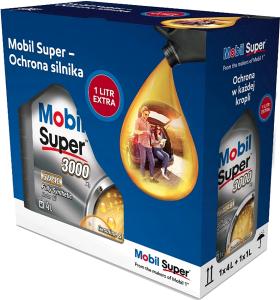 MOBIL SUPER 3000 X1 4+1L 5W-40