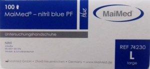 Rękawiczki nitrylowe jednorazowe 100szt rozmiar L certyfikat