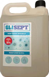 GLISEPT Płyn do dezynfekcji ponad 70% alkoholu 5L ATEST