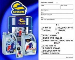 CYCLON zawieszka na silnik przy wymianie oleju