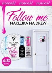 Victoria Vynn FOLLOW ME! DOOR LABEL naklejka na drzwi