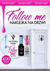 Victoria Vynn FOLLOW ME! DOOR LABEL naklejka na drzwi