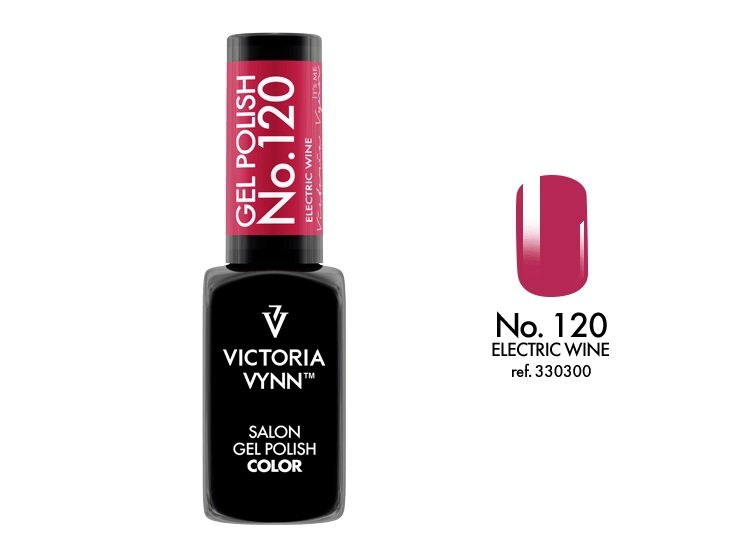 Victoria Vynn Lakier hybrydowy 120 8ml Electric Wine  Gel Polish COLOR Victoria Vynn