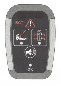 Sygnalizator alarmowy nie złożonego dźwigu i nóg