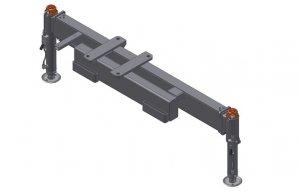 Rama podporowa 2 Hydrauliczne nogi  Obracane ,Manualny wysuw 4400mm