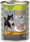 Nutrilove Dog Premium Pyszny pasztet dla psa z jagnięciny 12x800g