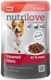 Nutrilove Dog Premium Gotowane na parze delikatne fileciki z wołowiną w sosie 28x85g