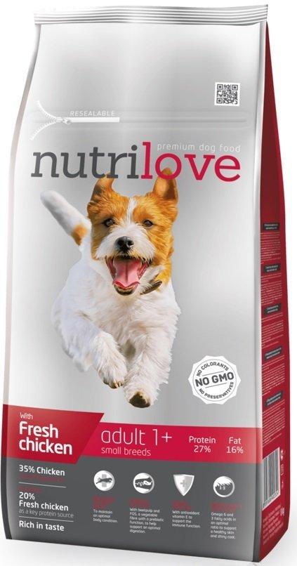 Nutrilove Premium Adult Small - ze świeżym kurczakiem 8kg