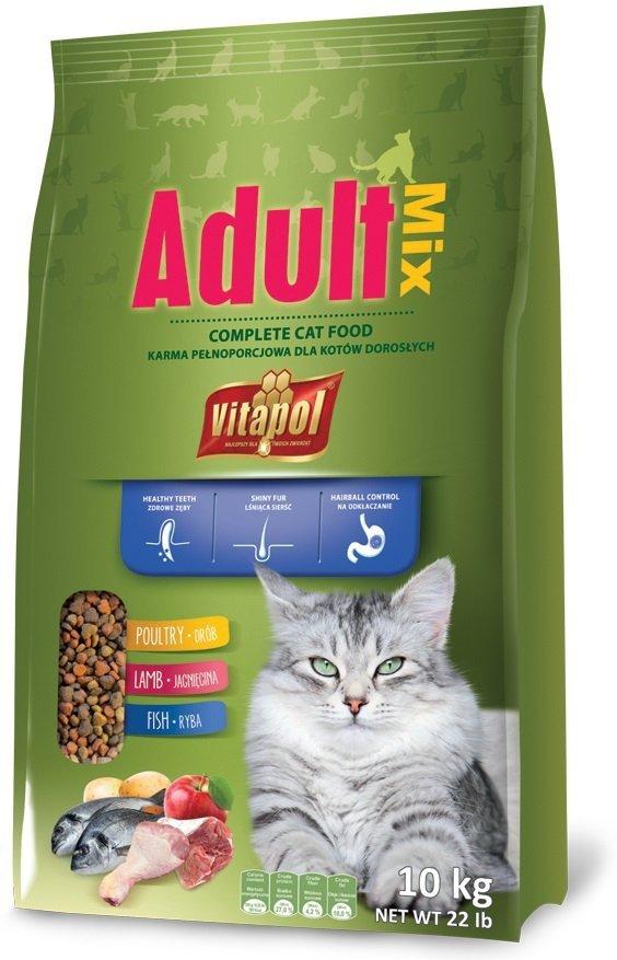 Vitapol Adult - pełnoporcjowa karma dla dorosłych kotów 10kg