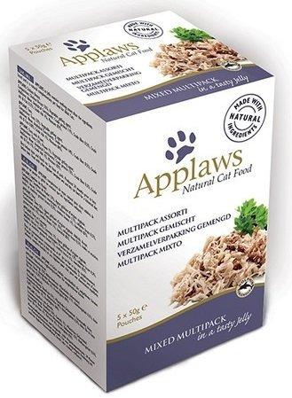 Applaws Multipack Mixed - saszetki dla kota w galaretce 2x tuńczyk, 2x pierś z kurczaka, 1x tuńczyk z krewetkami - 5x50g