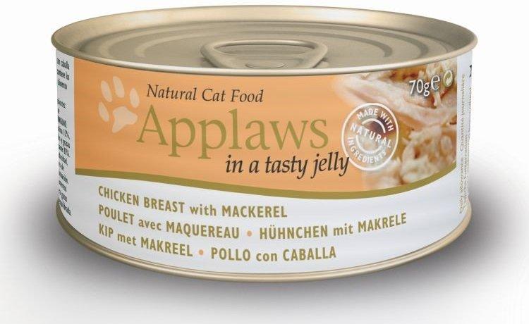 Applaws Cat Pierś z kurczaka z makrelą w galaretce 24x70g