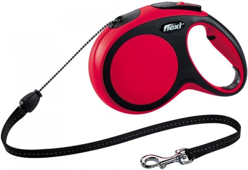 Flexi New Comfort M linka 8m - czerwona