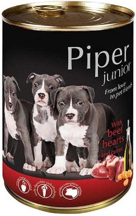 Piper Junior z sercami wołowymi i marchewką 12x400g