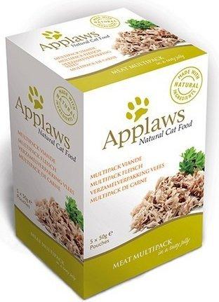 Applaws Mięsny Multipack - saszetki dla kota w galaretce 2x kurczak z kaczką, 2x pierś z kurczaka, 1x kurczak z jagnięciną - 5x50g
