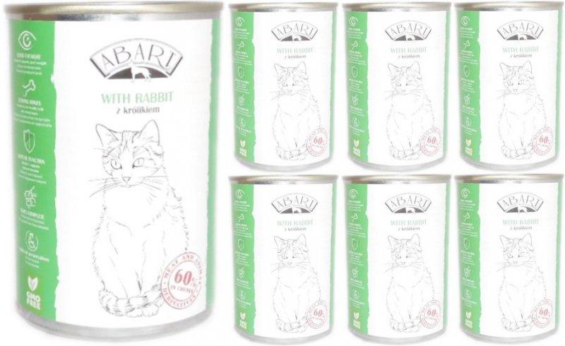 Abart Cat with Rabbit - 60% mięsa - Królik w sosie 24x415g 20+4 Gratis